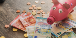 Geldscheine und ein Sparschwein